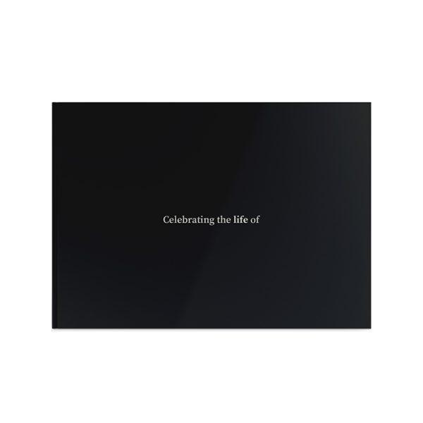 Template Memorial Books - Black Silk - Prime Grafix & Unibind, Printing & Binding, Australia