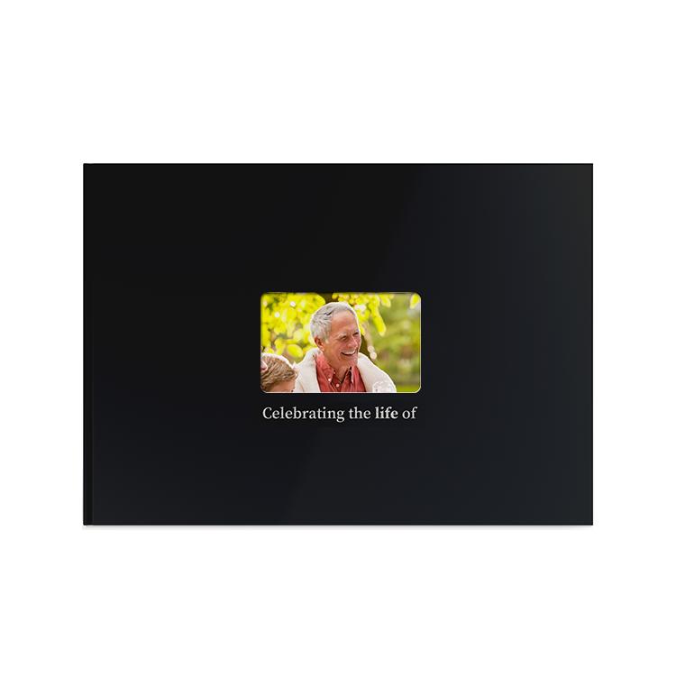 Template Memorial Books - Black Silk Window - Prime Grafix & Unibind, Printing & Binding, Australia