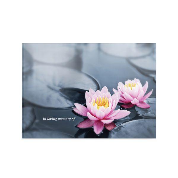 Template Memorial Books - Water Lotuss - Prime Grafix & Unibind, Printing & Binding, Australia