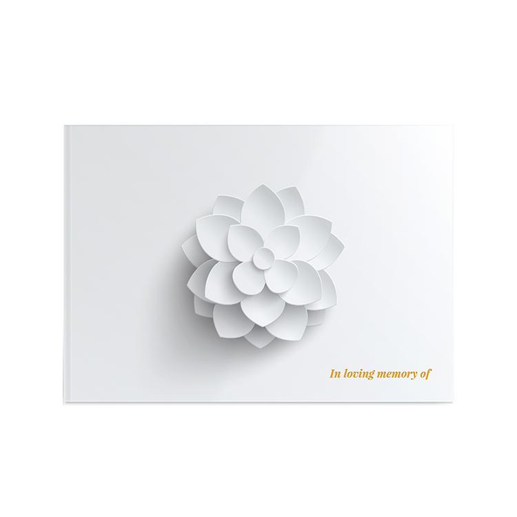 Template Memorial Books - White Lotus - Prime Grafix & Unibind, Printing & Binding, Australia